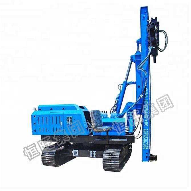 Hydraulic solar project post installation highway guardrail crawler pile driver for sale