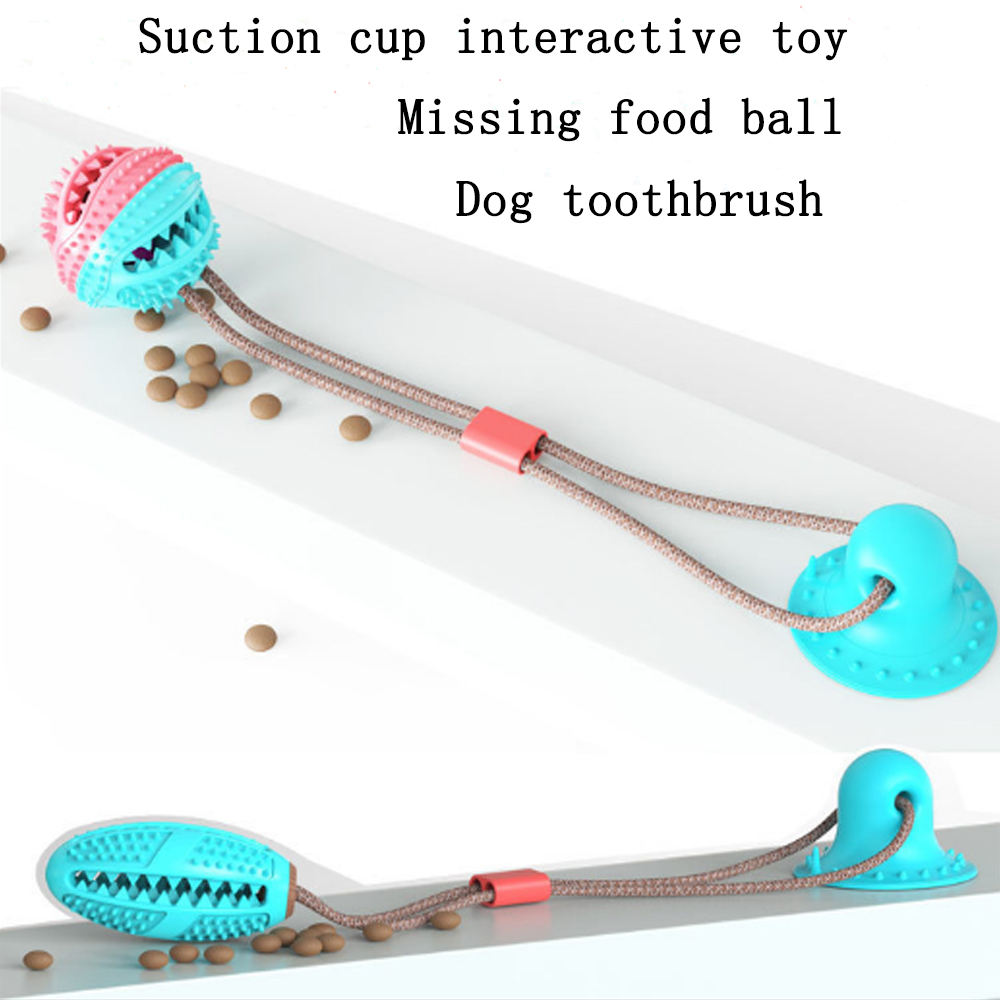 Interactive fun Pet Molar Bite Ball toy with suction cup dog toy Dog Tooth Cleaning
