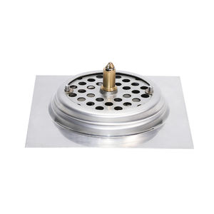 Shower square stainless steel concealed floor drain