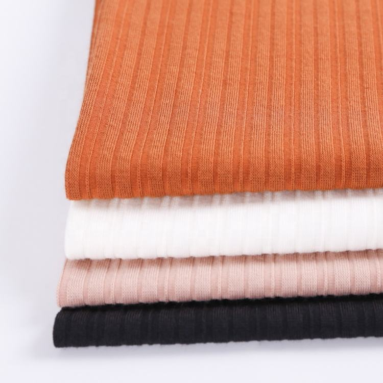 Customerzied eco-friendly jersey rib cheap upholstery textiles stripes knit fabric organic