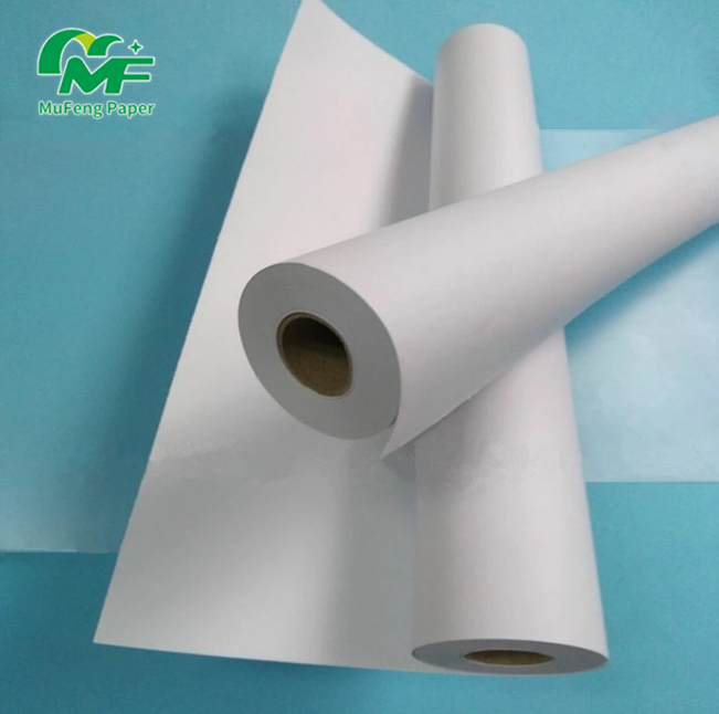 CAD Plotter Paper Roll Kraft With Hole Transfer Textile And Garments Marker Printer In Plotter Used Cad Paper Roll For Garment E