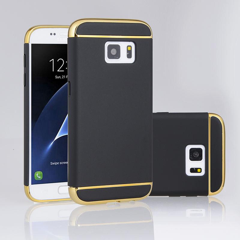3 In 1 ADET Telefon Kılıfı Için Samsung Galaxy S7 PC Durumda Kapak, Cep Telefonu Için Kılıf