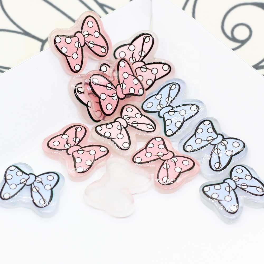 Mixed Resin Bling Bow Tie Decoration Crafts Beads Flatback Cabochon Scrapbooking For Embellishments Kawaii Diy Accessories