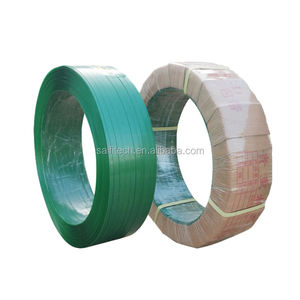 Cotton bale packing polyester strapping belt bundle strap high strength embossed green pet strap