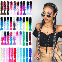Wholesale 24 Inch Hot Water Setting Jumbo Yaki Hair Pre stretched Braiding Hair Twisted Ombre Jumbo Braid Synthetic Hair