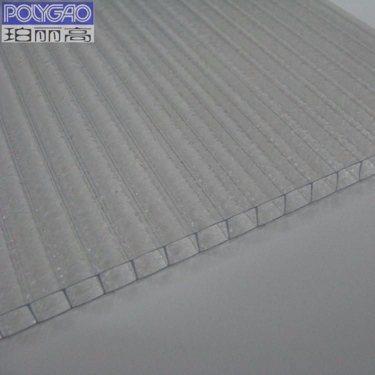 100% virgin material GE Bayer 10mm decorative hollow polycarbonate sheet