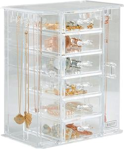 Gifts Jewellery Organiser Trinket Box Necklace And Earring Holder Cosmetic Makeup Organizer Acrylic Organiser