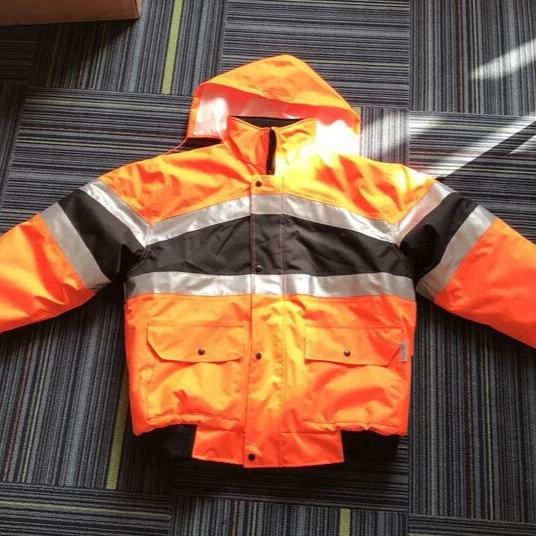 Durable Roadway Safety Clothing Fireproof Waterproof Reflective Safety Jacket Coat