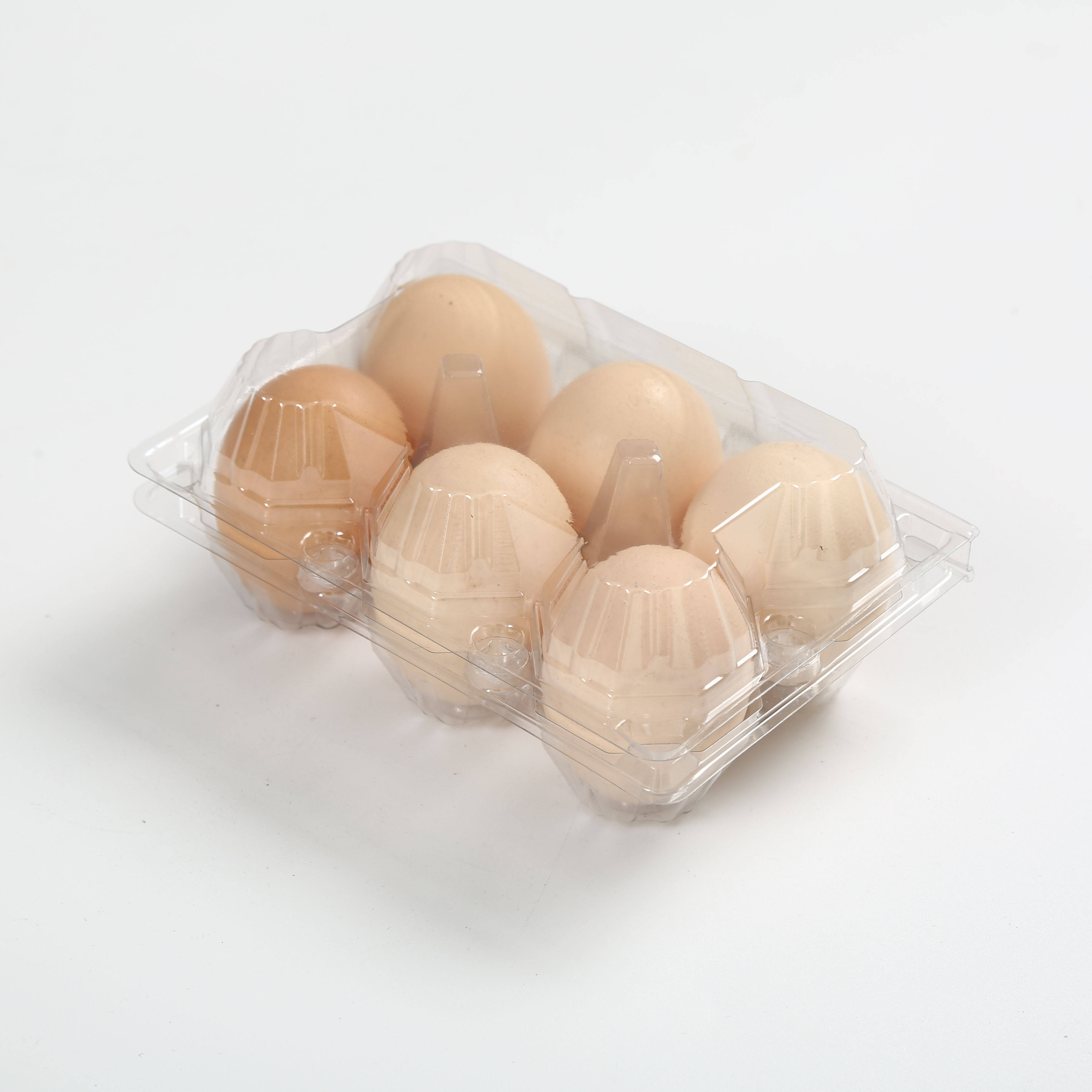 Desechable barato Blister Clamshell <span class=keywords><strong>embalaje</strong></span> para 6 bandejas <span class=keywords><strong>de</strong></span> huevos