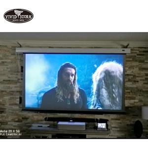 VIVIDSTORM 92 inch Ultra-Short Throw Ambient Light Rejecting Drop Down screen for UST Projector home cinema 4K projector screen