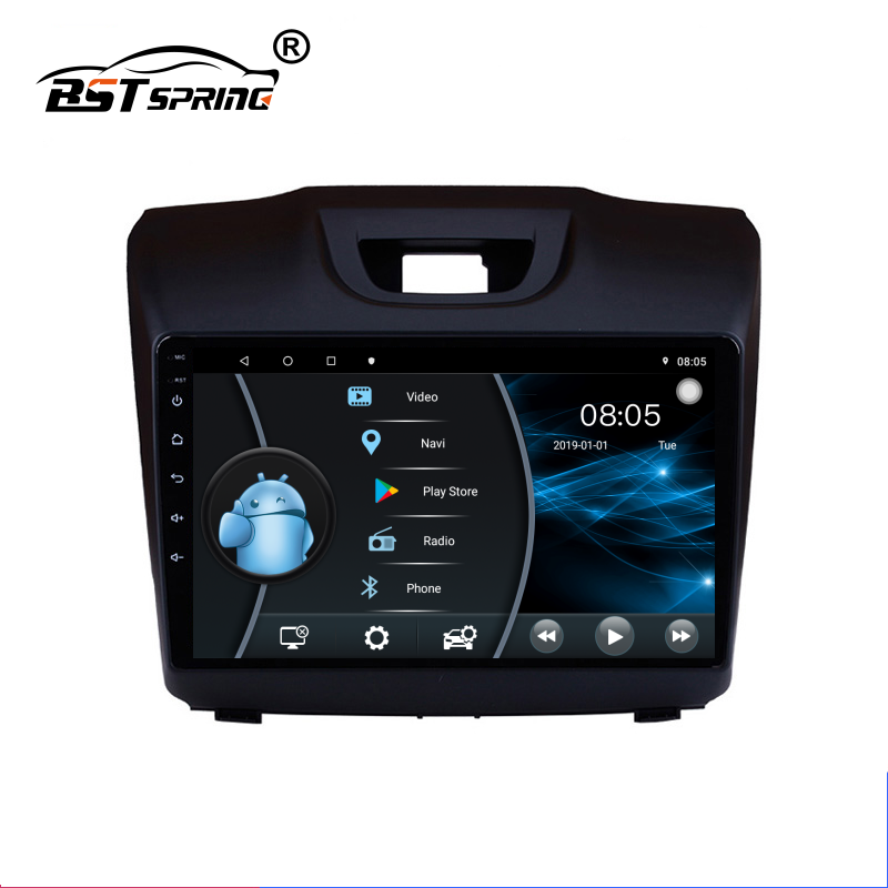 Bosstar Octa Core Android Car Multimedia Player Gps Navigatie Systeem Voor Isuzu D-MAX Single Din Auto Stereo Audio Systeem