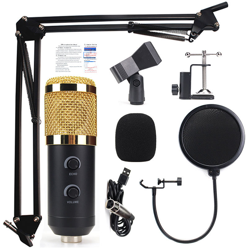 Excellent quality podcast gaming Microphone studio With Volume Control