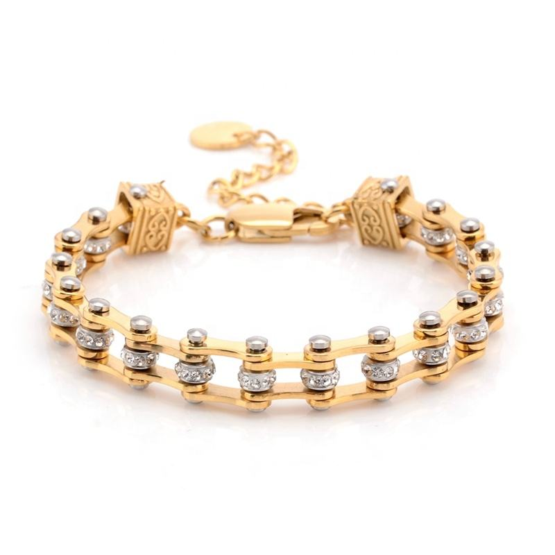 Fashion Jewelry 316L Stainless Steel Link Chain Charm Adjustable Size Bracelet Bangels for Women girl Female Jewelry wholesale