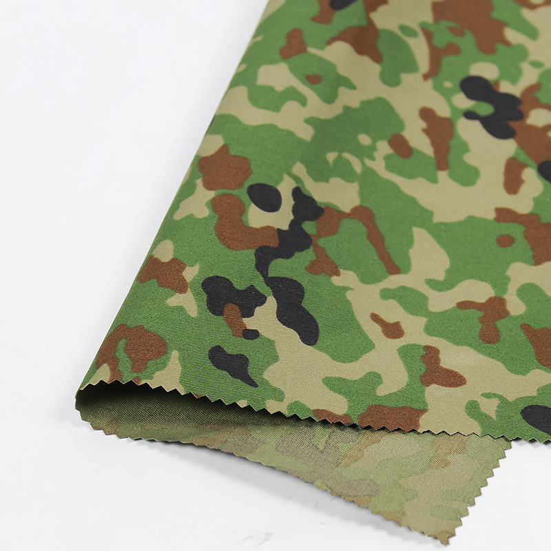 2021 New Arrivals Chinese factory direct sale Japan Ground Self-Defence Force poly Cotton Camouflage Fabric