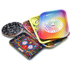 Good Quality Oval Metal Printing Rolling Tinplate Weed Cigarette Tray