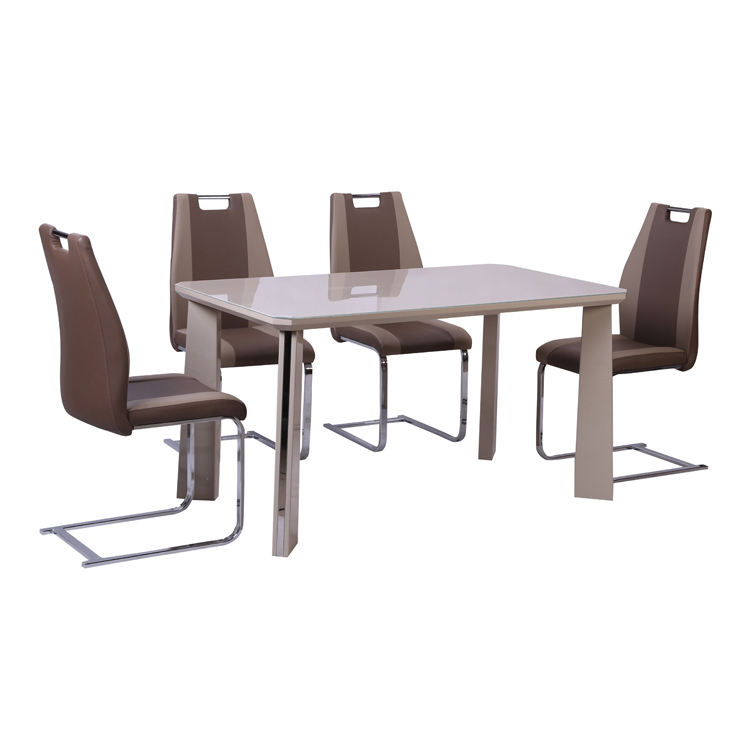 Free Sample Tempered Extendable Designer Top Folding Contemporary 4 Seater Fiberglass Glass Dining Table
