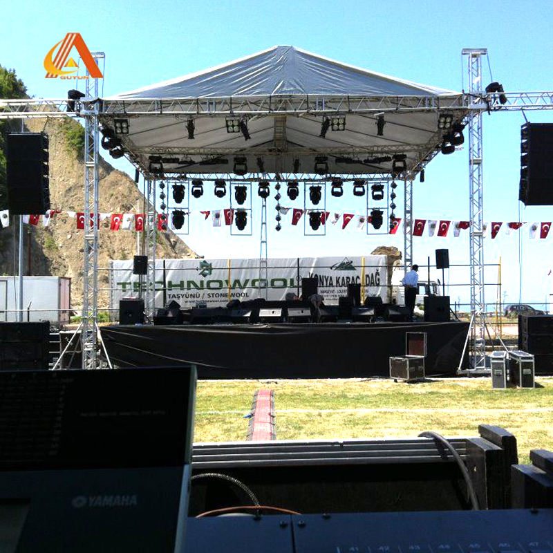 Aluminum Alloy Stage Truss System Design Lighting Flat LED Screen Modular Music Stage