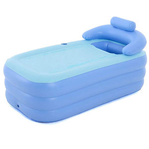 160cm PVC Portable Tub Soft Plastic Inflatable Adult Portable Bath Tub
