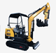 mini excavator with mining drill Earth moving 2.0ton 2.5ton 3.0ton digger screw auger drill attachment earth auger
