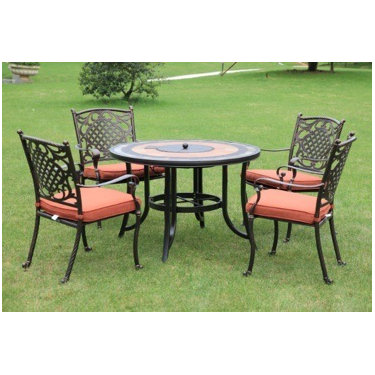 Youya high class french bistro sets iron legs wholesale outdoor cast aluminium dining table and chair for balcony