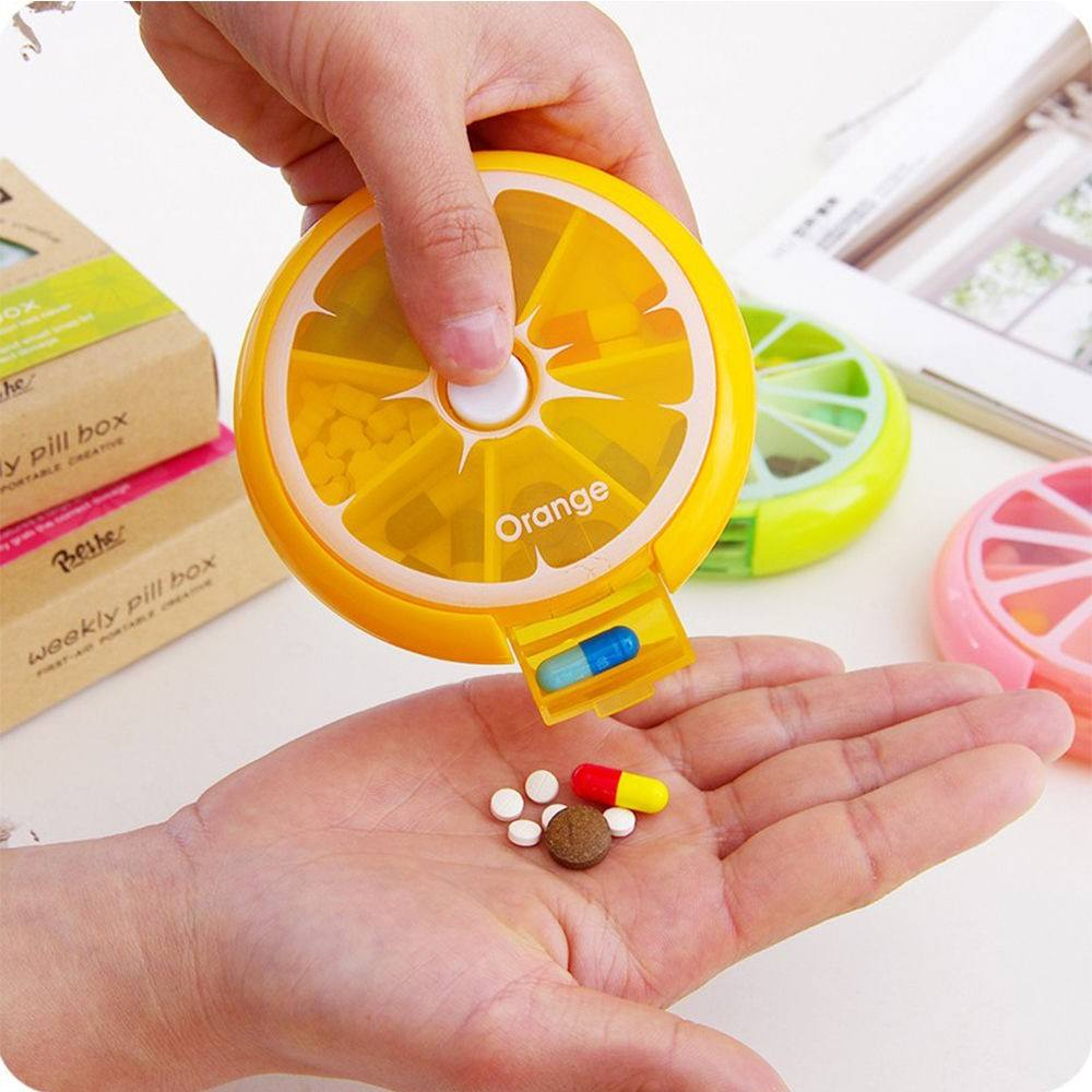 High quality light Medicine box / plastic pill case / pill container