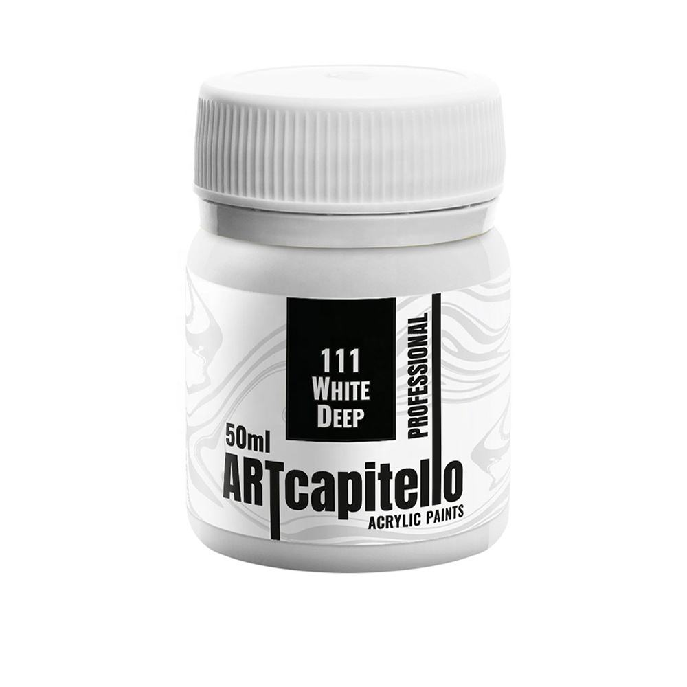 White Deep 111. Acrylic paint jar 50 ml. Professional  quick delivery