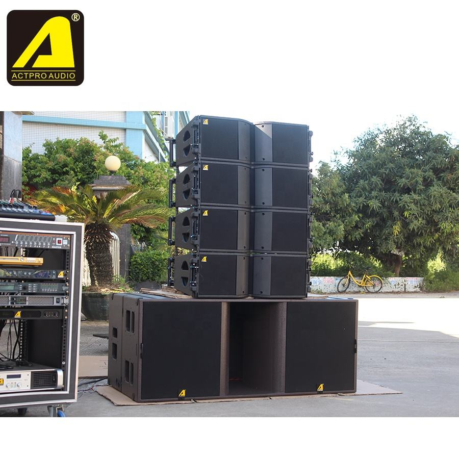 amplifier and speakers power Line array speaker KR208 with ks28 subwoofer speaker dual 18 inch clear sound system