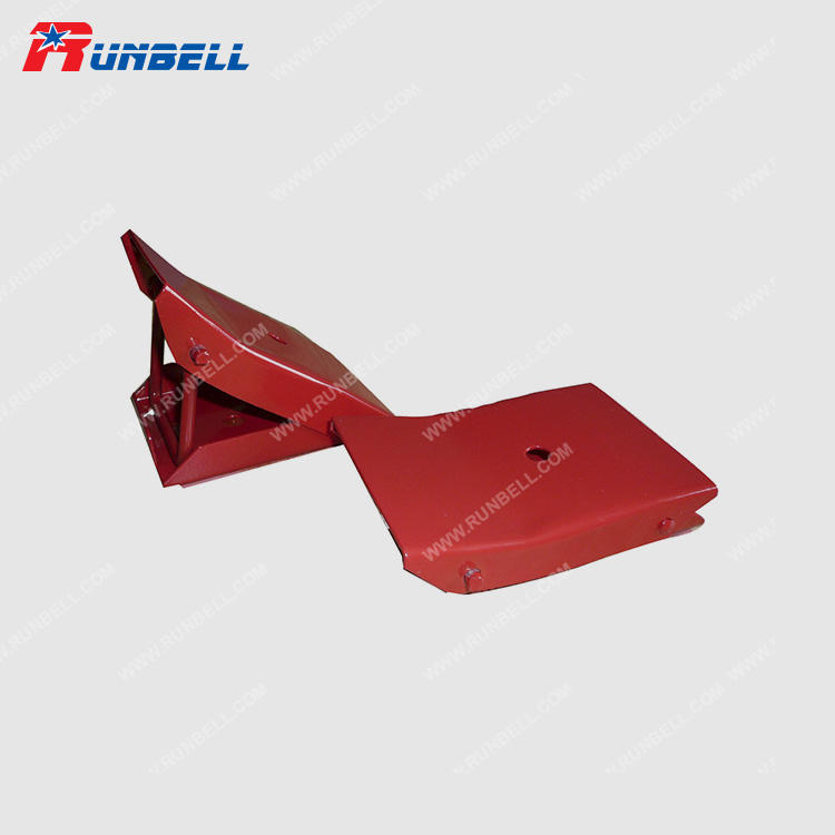 Red Steel Foldable Wheel Chocks Car Caravan Trailer Horsebox