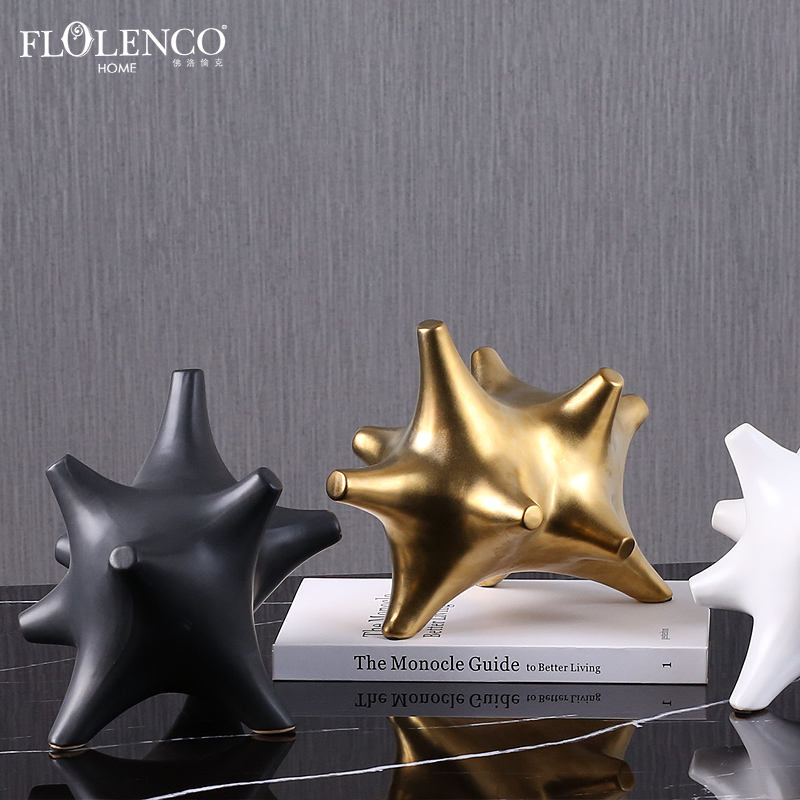 2020 New Idea Modern Home Accessories Piece Ceramic Corner Abstract Decorations For Home