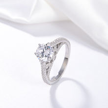 Engagement Ring Unique Hot Selling SIlver Ring Women Jewelry  Custom Zircon Party