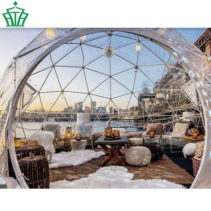 Luxury transparent igloo dome tent for holiday camping