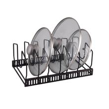 Home Kitchen Pan Organizer Rack Pot Lid Holder Adjustable Cookware Holders