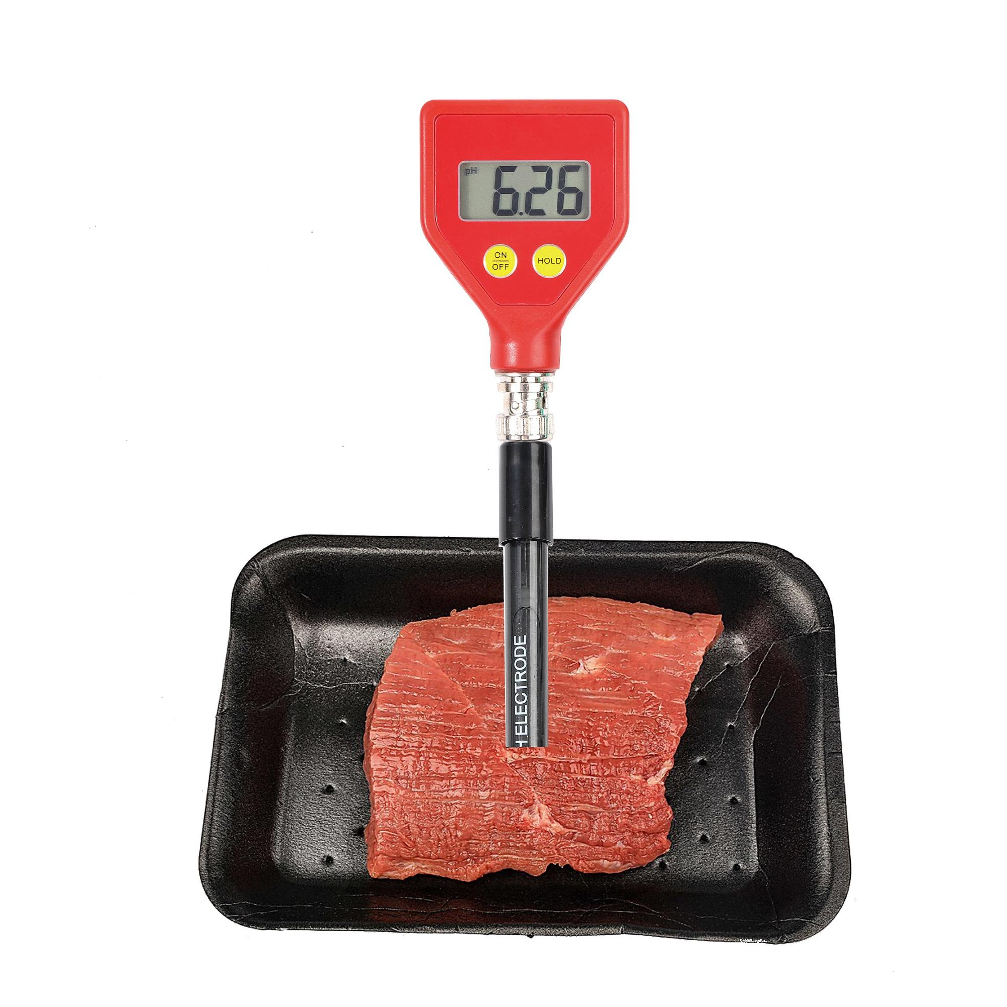 pH checker changeable data hold ph meter digital digital with sharp glass electrode for Water Food Cheese Milk Soil