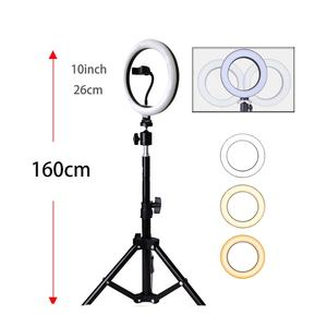 Newish hot selling Adjustable Dimmable ring light LED 8 10 inch Ring Beauty Makeup mirror with Light ShowLive Light for Tik Tok