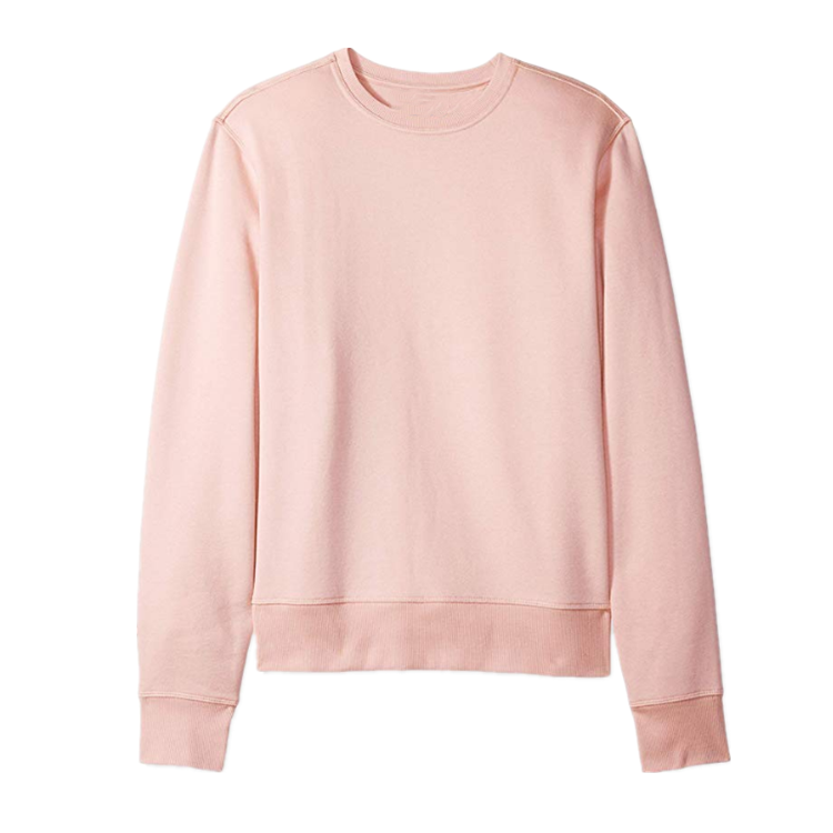 <span class=keywords><strong>Sweat</strong></span>-shirt <span class=keywords><strong>à</strong></span> ras du cou, en tissu molletonné rose uni, <span class=keywords><strong>à</strong></span> la mode, nouvelle collection 2020