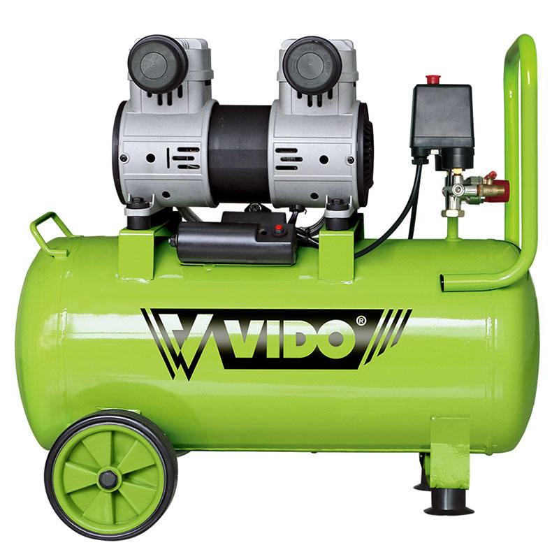 VIDO 50l portable silent oil free air-compressors air compressor machines
