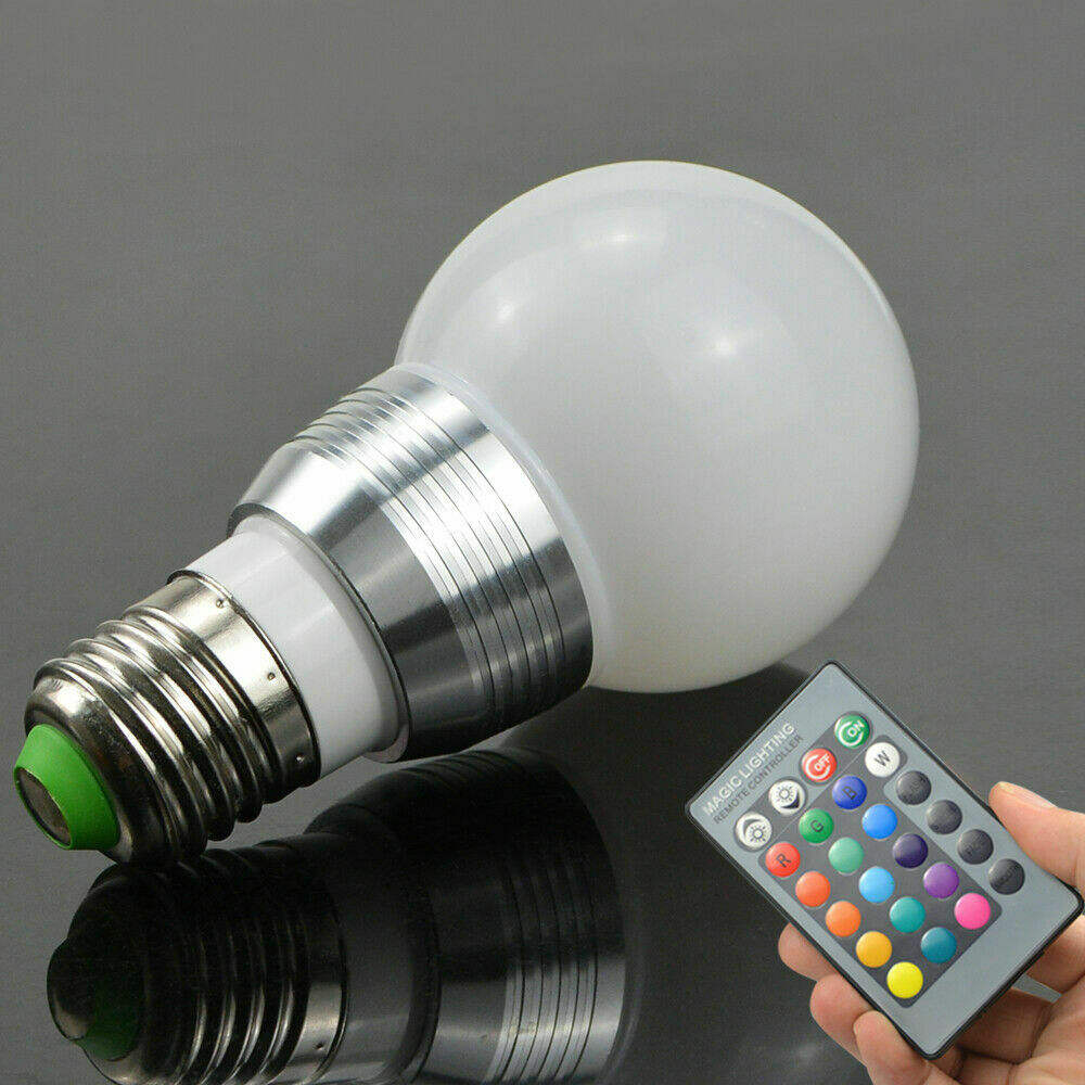 16 Color Changing LED RGB Globe Light Bulbs 3W With Remote Control E14 E27 B22 Screw Base Home Decoration Lamp AC 110V 220V