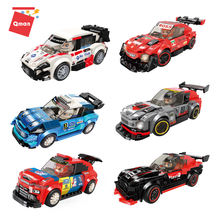 Qman Racing car Model Track Building Blocks 6 styles Car Toy toys vehicles