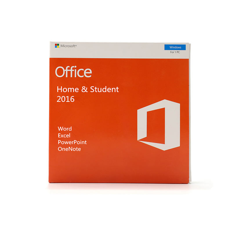 Software de ordenador Microsoft Office 2016 en casa y estudiante caja de venta al por menor para el Software de PC descargar Oficina 2016 HS