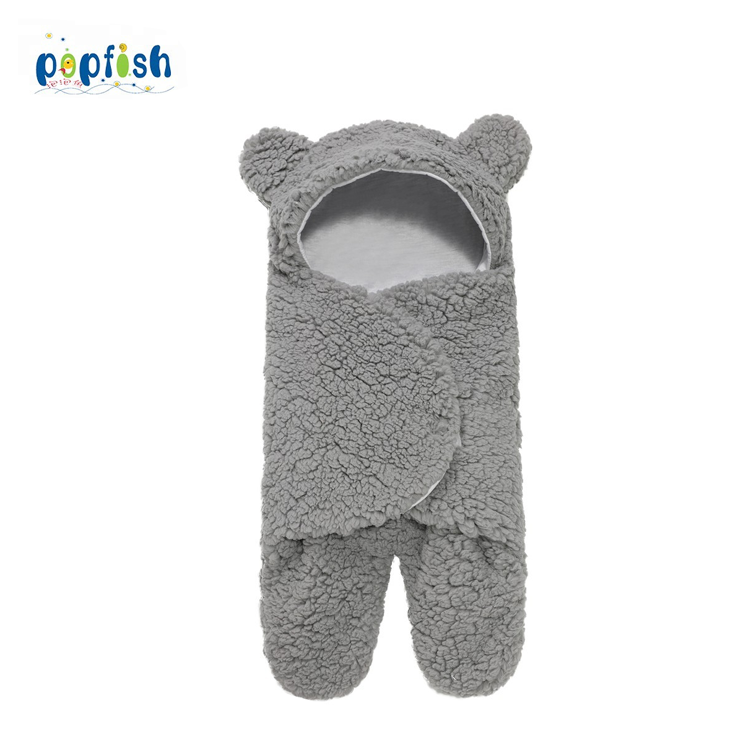 cute girls animal fur new born baby winter sleeping bags