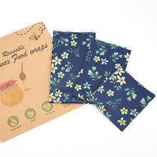 Wholesale Custom Printing beeswax food wrap organic reusable oem  fda beeswax wrap food grade