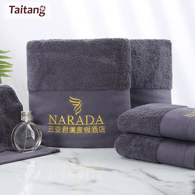 Taitang Hotel Linen 100% Cotton 16S Towels Set 5 Star Hotel Towel Cotton Color