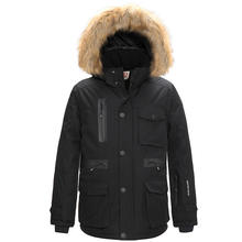 Mens Thickened Down Jacket Hooded Long Parka Padded Coat Free Shipping