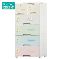 Customized Logo Bathroom Toy Kids Clothes Storage Wardrobe Drawers Plastic Cabinet for Baby