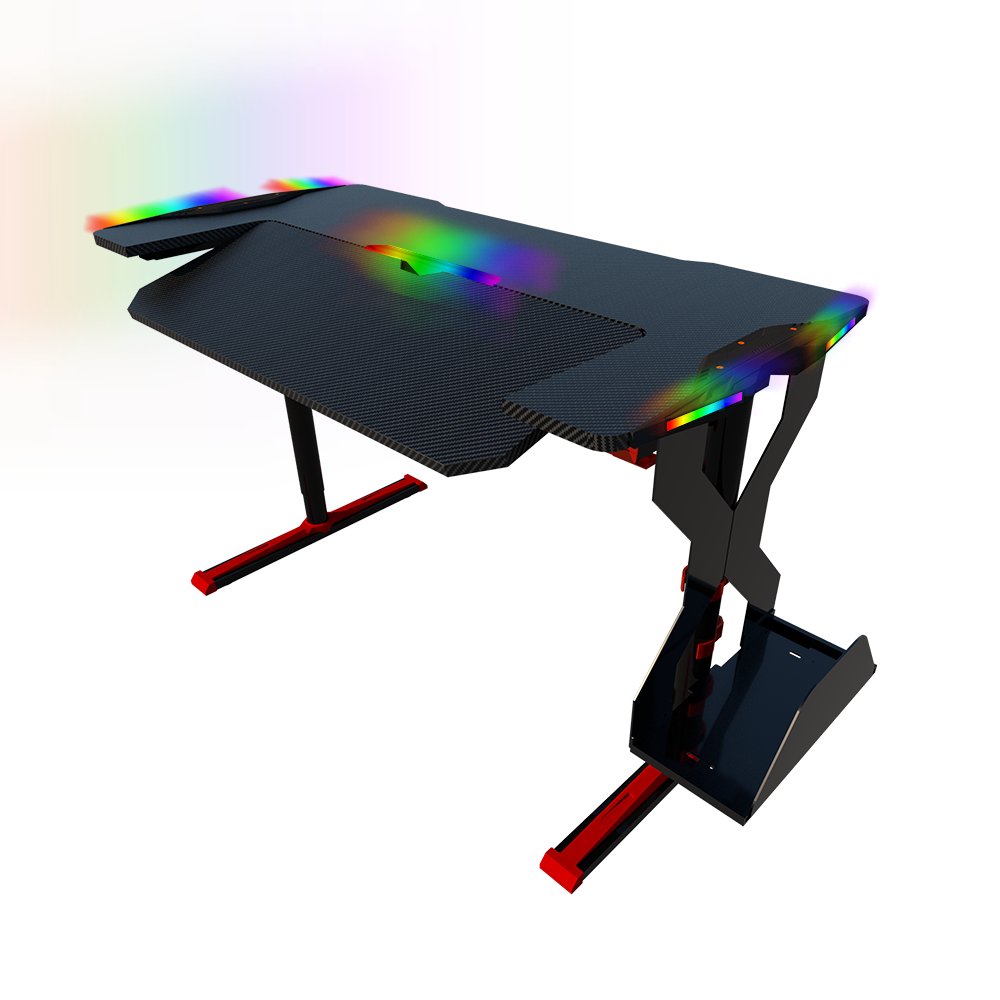 Cheap wholesale Height Adjustable gaming light desk Ergonomic new rgb gaming table