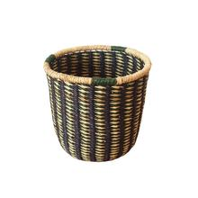 Hot Selling Bamboo Rattan Seagrass Water Hyacinth Sundries Storage Basket Natural Belly Basket Handmade  for Home Decor Made