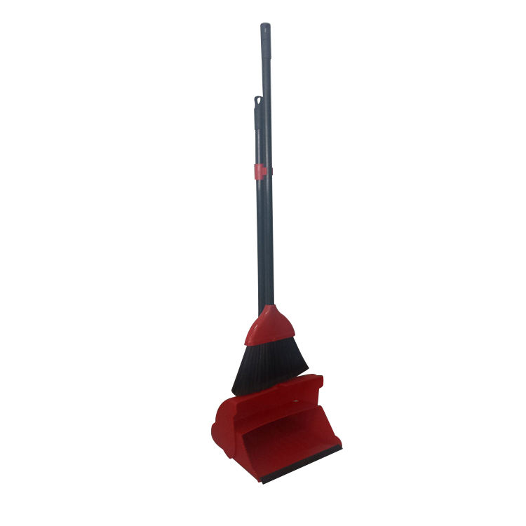 Factory hot sale plastic angle cleaning broom floor brush with dustpan a set with handle indoor or outdoor usage