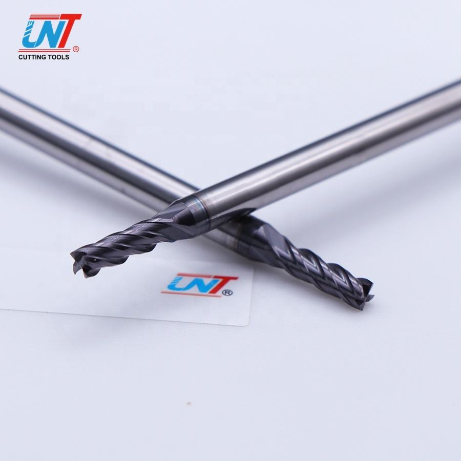 UNT hot sale original machine 4 flutes 35 degree tiain-coating long neck end mill cutter for cnc lathe cutting tool