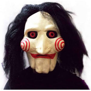 Halloween saw Mask Creepy Scary Clown Face Horror Movie saw Costume Party Festival Cosplay Prop Decoration