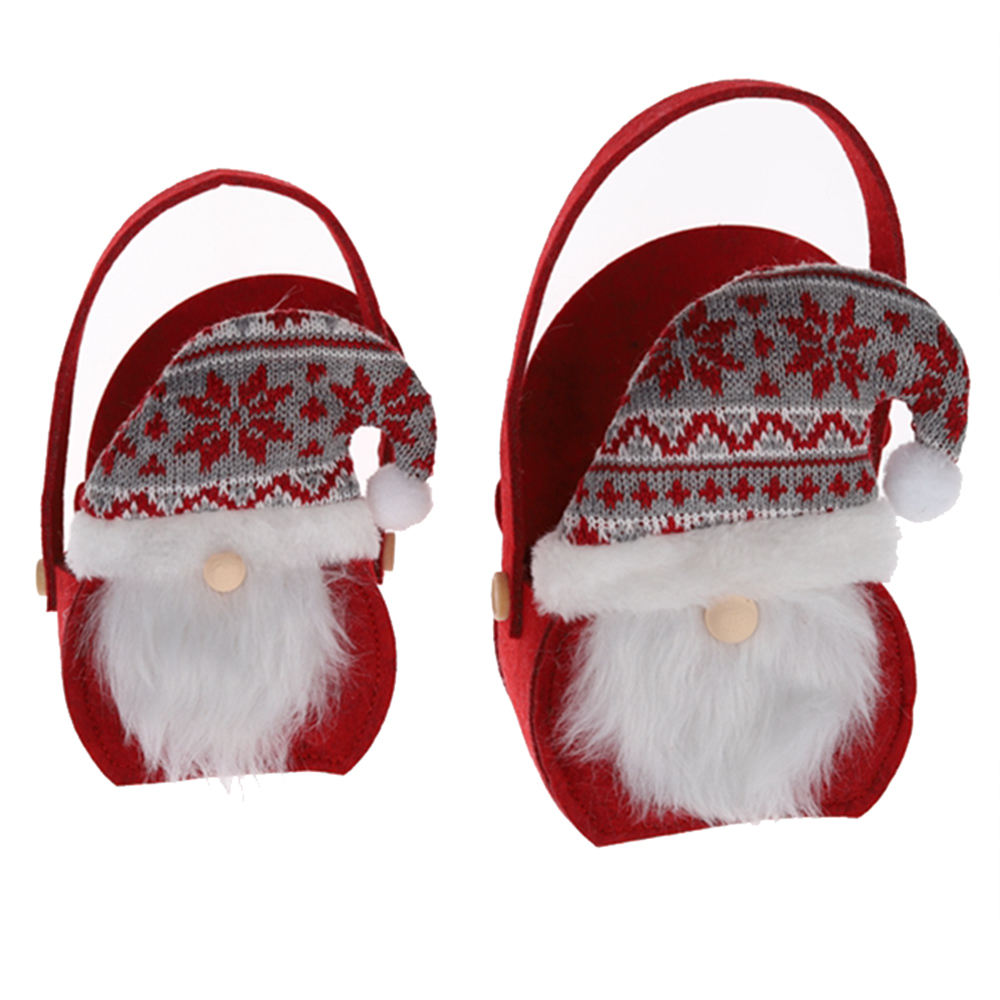 Felt Christmas Candy Bags Santa Gnome Bags Xmas Bags Portable Basket Christmas Holiday New Year Favor Suppliers For Home Decor